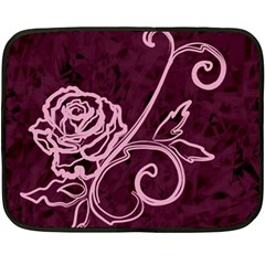 Rose Mini Fleece Blanket (two Sided) by uniquedesignsbycassie