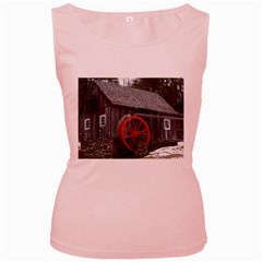 Vermont Christmas Barn Womens  Tank Top (Pink) by plainandsimple