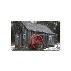 Vermont Christmas Barn Magnet (name Card) by plainandsimple
