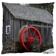 Vermont Christmas Barn Large Cushion Case (single Sided)  by plainandsimple