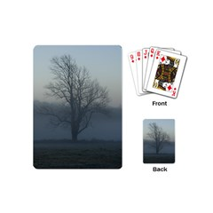 Foggy Tree Playing Cards (mini) by plainandsimple