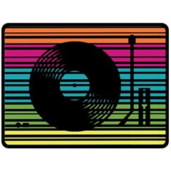 DJ turn table Fleece Blanket (Extra Large) by PaolAllen2