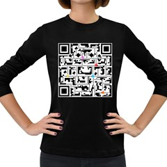 Extraordinary Qr Women s Long Sleeve Dark T Shirt by doodlelabel