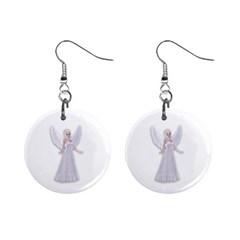Beautiful Fairy Nymph Faerie Fairytale Mini Button Earrings by goldenjackal