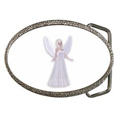 Beautiful Fairy Nymph Faerie Fairytale Belt Buckle (oval) by goldenjackal