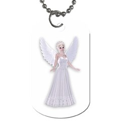 Beautiful Fairy Nymph Faerie Fairytale Dog Tag (two Sided)  by goldenjackal