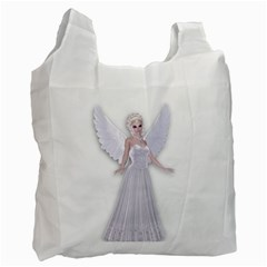Beautiful Fairy Nymph Faerie Fairytale Recycle Bag (two Sides) by goldenjackal