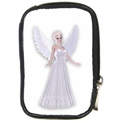 Beautiful Fairy Nymph Faerie Fairytale Compact Camera Leather Case by goldenjackal