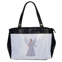 Beautiful Fairy Nymph Faerie Fairytale Oversize Office Handbag (one Side) by goldenjackal
