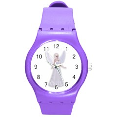 Beautiful Fairy Nymph Faerie Fairytale Plastic Sport Watch (medium) by goldenjackal