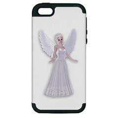 Beautiful Fairy Nymph Faerie Fairytale Apple Iphone 5 Hardshell Case (pc+silicone) by goldenjackal