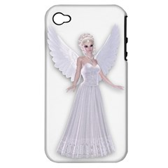 Beautiful Fairy Nymph Faerie Fairytale Apple Iphone 4/4s Hardshell Case (pc+silicone) by goldenjackal