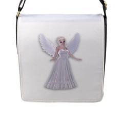 Beautiful Fairy Nymph Faerie Fairytale Flap Closure Messenger Bag (large) by goldenjackal