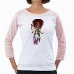 Fairy magic faerie in a dress Women s Long Cap Sleeve T-Shirt (White)