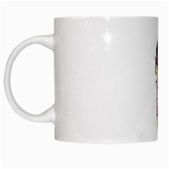 Fairy Magic Faerie In A Dress White Coffee Mug by goldenjackal
