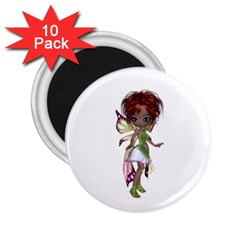 Fairy Magic Faerie In A Dress 2 25  Button Magnet (10 Pack) by goldenjackal