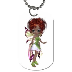 Fairy Magic Faerie In A Dress Dog Tag (two Sided)  by goldenjackal