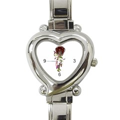 Fairy Magic Faerie In A Dress Heart Italian Charm Watch  by goldenjackal