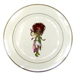 Fairy magic faerie in a dress Porcelain Display Plate
