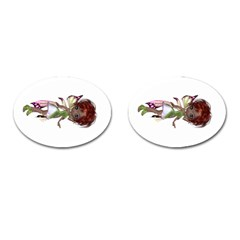 Fairy Magic Faerie In A Dress Cufflinks (oval) by goldenjackal