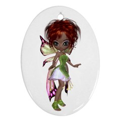 Fairy Magic Faerie In A Dress Oval Ornament (two Sides) by goldenjackal