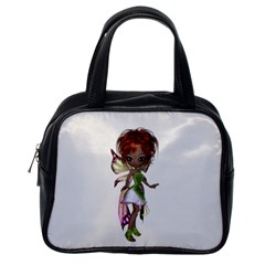 Fairy Magic Faerie In A Dress Classic Handbag (one Side) by goldenjackal
