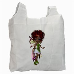 Fairy Magic Faerie In A Dress Recycle Bag (one Side) by goldenjackal