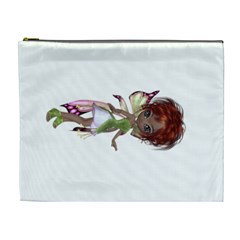 Fairy Magic Faerie In A Dress Cosmetic Bag (xl) by goldenjackal