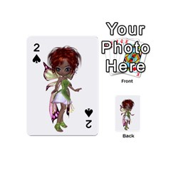 Fairy magic faerie in a dress Playing Cards 54 Designs (Mini) by goldenjackal