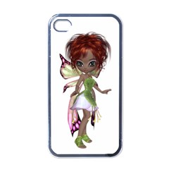 Fairy Magic Faerie In A Dress Apple Iphone 4 Case (black) by goldenjackal