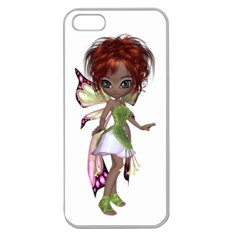 Fairy Magic Faerie In A Dress Apple Seamless Iphone 5 Case (clear) by goldenjackal