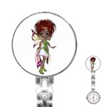 Fairy magic faerie in a dress Stainless Steel Nurses Watch