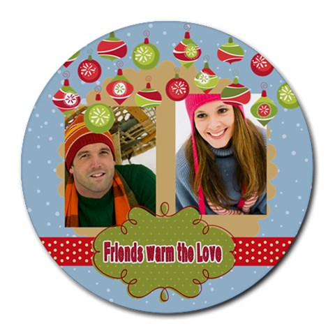 Xmas By Merry Christmas   Round Mousepad   Fiokndhojjda   Www Artscow Com Front