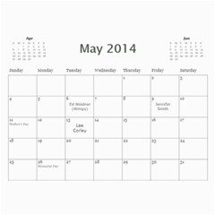 Tailgating Calendar2 By Sposten Hotmail Com   Wall Calendar 11  X 8 5  (12 Months)   Qp2ovcqbie32   Www Artscow Com May 2014