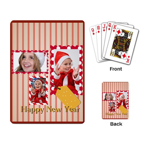 New Year By New Year   Playing Cards Single Design   Zidc8bcugxv2   Www Artscow Com Back