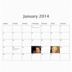 Manny By Manny   Wall Calendar 11  X 8 5  (12 Months)   Dj7py7ygyufg   Www Artscow Com Jan 2014