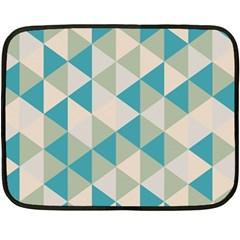 Triangles Mini Fleece Blanket (single Sided) by LoveModa