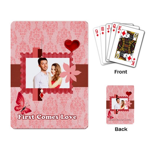 Love By Ki Ki   Playing Cards Single Design   3rjnftlcwlu0   Www Artscow Com Back