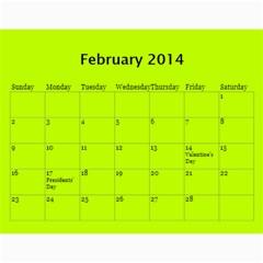 Жорик By Vitaliya   Wall Calendar 11  X 8 5  (12 Months)   Lk9uu8q56liw   Www Artscow Com Feb 2014