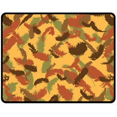 Feathers Fall Fleece Blanket (medium) by DesignsbyReg2