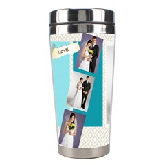 Wedding By Paula Green   Stainless Steel Travel Tumbler   Vpj84i6yf7lo   Www Artscow Com Left