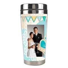 Wedding By Paula Green   Stainless Steel Travel Tumbler   E06jbbj2wh6q   Www Artscow Com Left