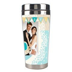Wedding By Paula Green   Stainless Steel Travel Tumbler   E06jbbj2wh6q   Www Artscow Com Right