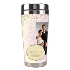 Wedding By Paula Green   Stainless Steel Travel Tumbler   Xhl6wu7fe7j3   Www Artscow Com Left