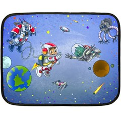 Interplanetary High Five/three Mini Fleece Blanket (single Sided) by Contest1732250