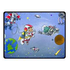 Interplanetary High Five/three Fleece Blanket (small) by Contest1732250