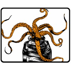 Octopus Ink Fleece Blanket (medium) by Contest1753604