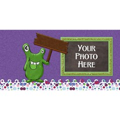 Monster Birthday 3d By Lisa Minor   Happy Birthday 3d Greeting Card (8x4)   Ha50iwmhx3lk   Www Artscow Com Front
