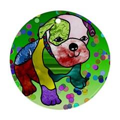 Pug Round Ornament by Siebenhuehner