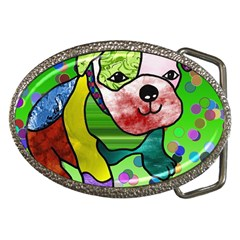 Pug Belt Buckle (Oval) by Siebenhuehner